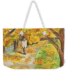 Walking The Truckee River Weekender Tote Bag