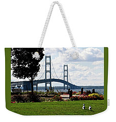 Walking To The Bridge Weekender Tote Bag