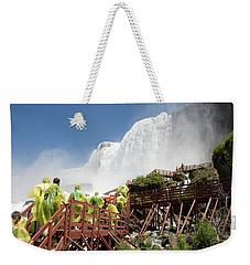 Weekender Tote Bag featuring the photograph Walking Up Below Niagara Falls by Jeff Folger