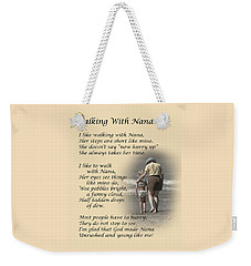 Walking With Nana Weekender Tote Bag by Dale Kincaid