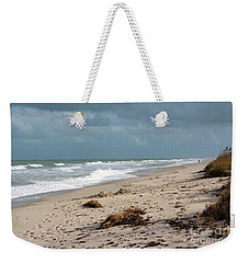 Weekender Tote Bag featuring the photograph Walks On The Beach by Megan Dirsa-DuBois