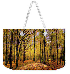 Walkway In The Autumn Woods Weekender Tote Bag