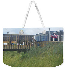 Walkway To Chicks Beach Virginia Beach On The Chesapeake Bay Weekender Tote Bag by Suzanne Powers