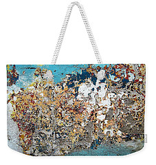 Wall Abstract 106 Weekender Tote Bag by Maria Huntley
