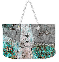 Wall Abstract 118 Weekender Tote Bag by Maria Huntley