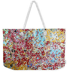 Wall Abstract 123 Weekender Tote Bag by Maria Huntley