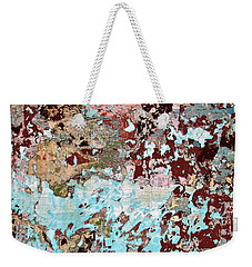 Wall Abstract 128 Weekender Tote Bag by Maria Huntley