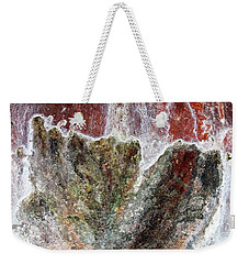 Wall Abstract 144 Weekender Tote Bag by Maria Huntley