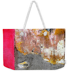 Wall Abstract 151 Weekender Tote Bag by Maria Huntley