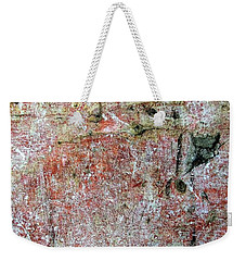 Wall Abstract 169 Weekender Tote Bag by Maria Huntley