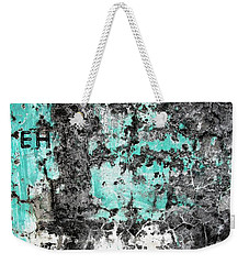 Wall Abstract 185 Weekender Tote Bag by Maria Huntley