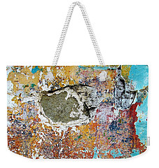 Wall Abstract 196 Weekender Tote Bag by Maria Huntley