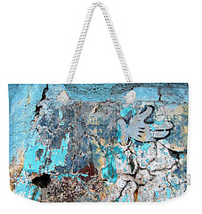 Wall Abstract 211 Weekender Tote Bag by Maria Huntley