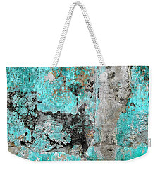 Wall Abstract 219 Weekender Tote Bag by Maria Huntley
