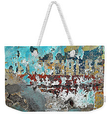 Wall Abstract 98 Weekender Tote Bag by Maria Huntley