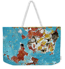 Wall Abstract 99 Weekender Tote Bag by Maria Huntley