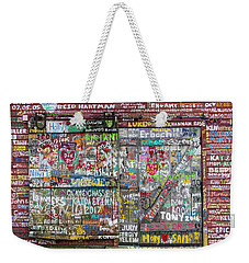 Weekender Tote Bag featuring the photograph Wall Of Love by Joel Witmeyer