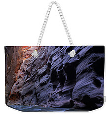 Wall Street At The Narrows At Zion National Park Weekender Tote Bag