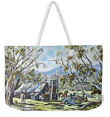 Wallace Hut, Australia's Alpine National Park. Weekender Tote Bag