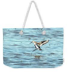 Willet Landing On Lake Weekender Tote Bag