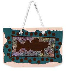 Walleye Silhouette Weekender Tote Bag