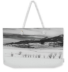 Weekender Tote Bag featuring the photograph Wallowa Mountains by Cat Connor