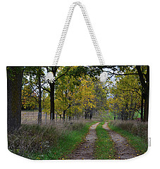 Weekender Tote Bag featuring the photograph Walnut Lane by Melissa Lane