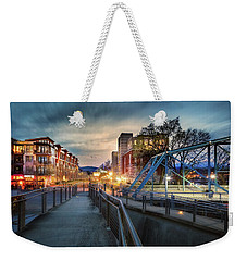 Walnut Street Circle Sunset Weekender Tote Bag