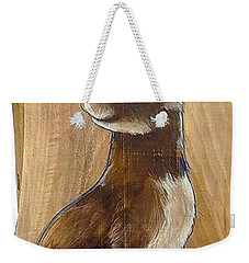Walnutty Bunny Weekender Tote Bag by Jacque Hudson
