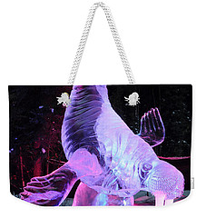 Weekender Tote Bag featuring the photograph Walrus Ice Art Sculpture - Alaska by Gary Whitton