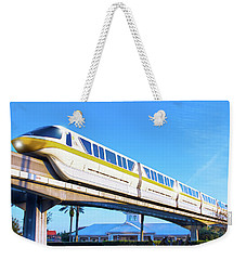 Weekender Tote Bag featuring the photograph Walt Disney World Monorail by Mark Andrew Thomas