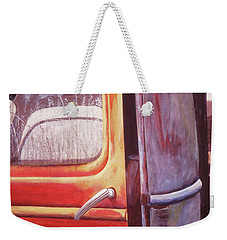 Weekender Tote Bag featuring the painting Walter by Laurie Stewart