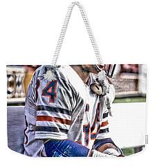 Walter Payton Chicago Bears Art 2 Weekender Tote Bag by Joe Hamilton