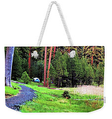 Walton Lake Campground Weekender Tote Bag by Michele Penner