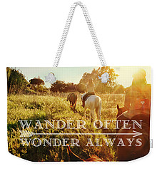 Wandering Rome Quote Weekender Tote Bag