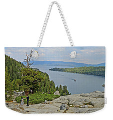 Weekender Tote Bag featuring the photograph Wandering The Rocky Slopes by Lynda Lehmann