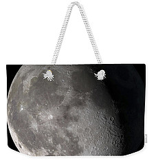 Weekender Tote Bag featuring the photograph Waning Gibbous Moon by Stocktrek Images
