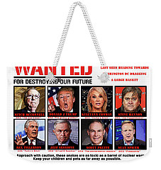 Chapter 6 Wanted Weekender Tote Bag by Joe  Palermo