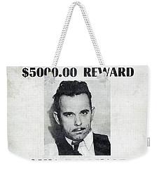Wanted John Dillinger 1934 Weekender Tote Bag