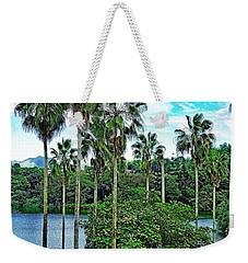 Waokele Pond Palms And Sky Weekender Tote Bag