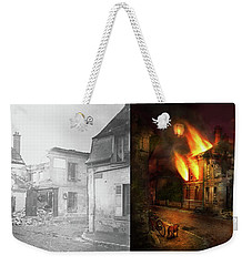 Weekender Tote Bag featuring the photograph War - Wwi -  Not Fit For Man Or Beast 1910 - Side By Side by Mike Savad