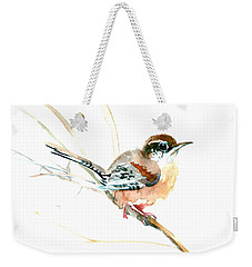 Warbler Songbird Art  Weekender Tote Bag by Suren Nersisyan