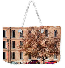 Warehouse With Tree Weekender Tote Bag by Wade Brooks