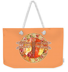 Warm Celtic Dragonfly Weekender Tote Bag
