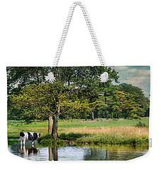 Weekender Tote Bag featuring the photograph Chilled Milk by Robin-Lee Vieira