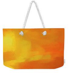 Weekender Tote Bag featuring the digital art Warm Moment by John Hansen