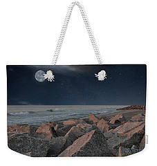 Warm Moonrise At For Fisher Weekender Tote Bag