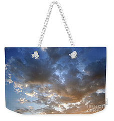 Weekender Tote Bag featuring the photograph Warm Paso Robles Sky by Michael Rock