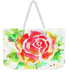 Warm Red Rose  Weekender Tote Bag by Nada Meeks