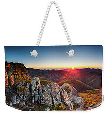 Warm Sunlight At Sunrise In The Mountain Weekender Tote Bag